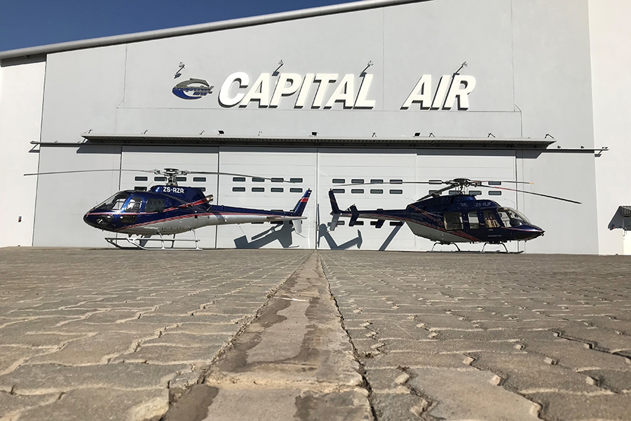Capital Air – the largest privately-owned helicopter fleet in South Africa